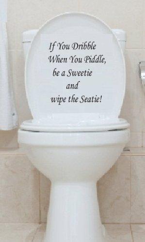 Toilet Seat Decal Art