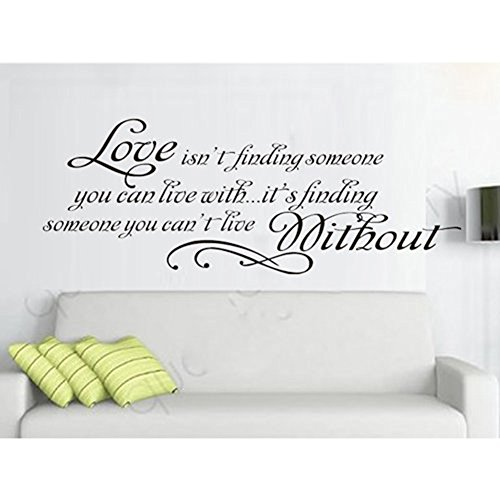 15.7u2033 X 33.5u2033 Love Quotes Wall ...