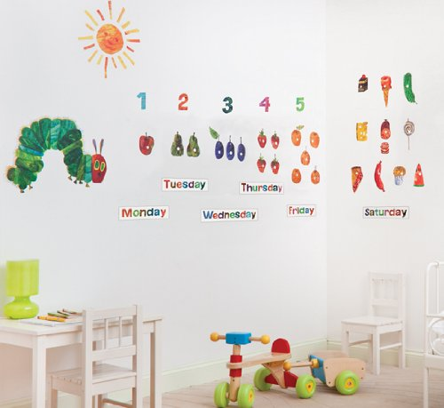 the very hungry caterpillar nursery and playroom wall sticker décor k