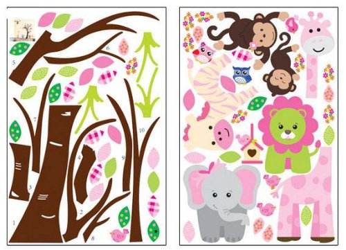 Owls Jungle Animals Wooden Bedroom Furniture Kids: Fungoo Large Colorful Tree & Jungle Animals Wall Sticker